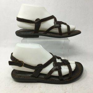 Born Women 7 Casual Slingback Strappy Flats Sandal
